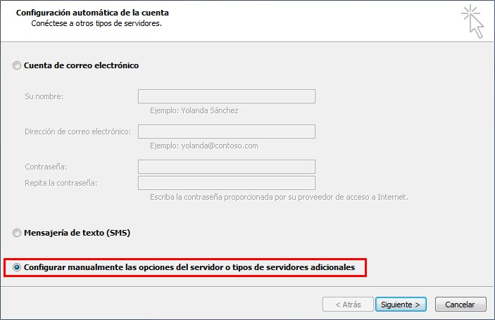Configurar email outlook 2010